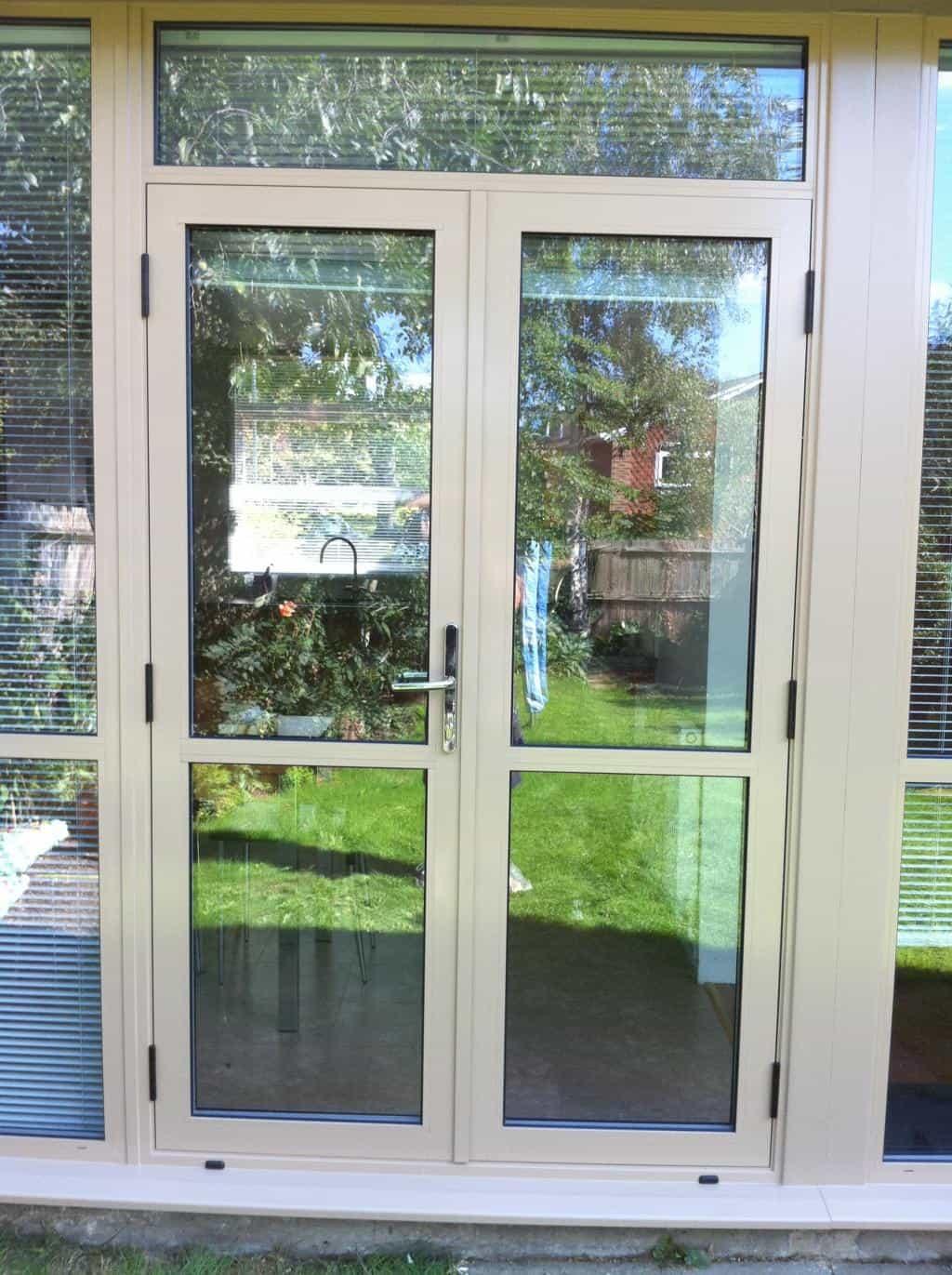 Aluminium doors front door double doors sliding for Double doors with glass