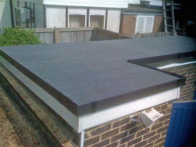 Flat roof repair new flat roof epdm flat roofing for Garage roofing options