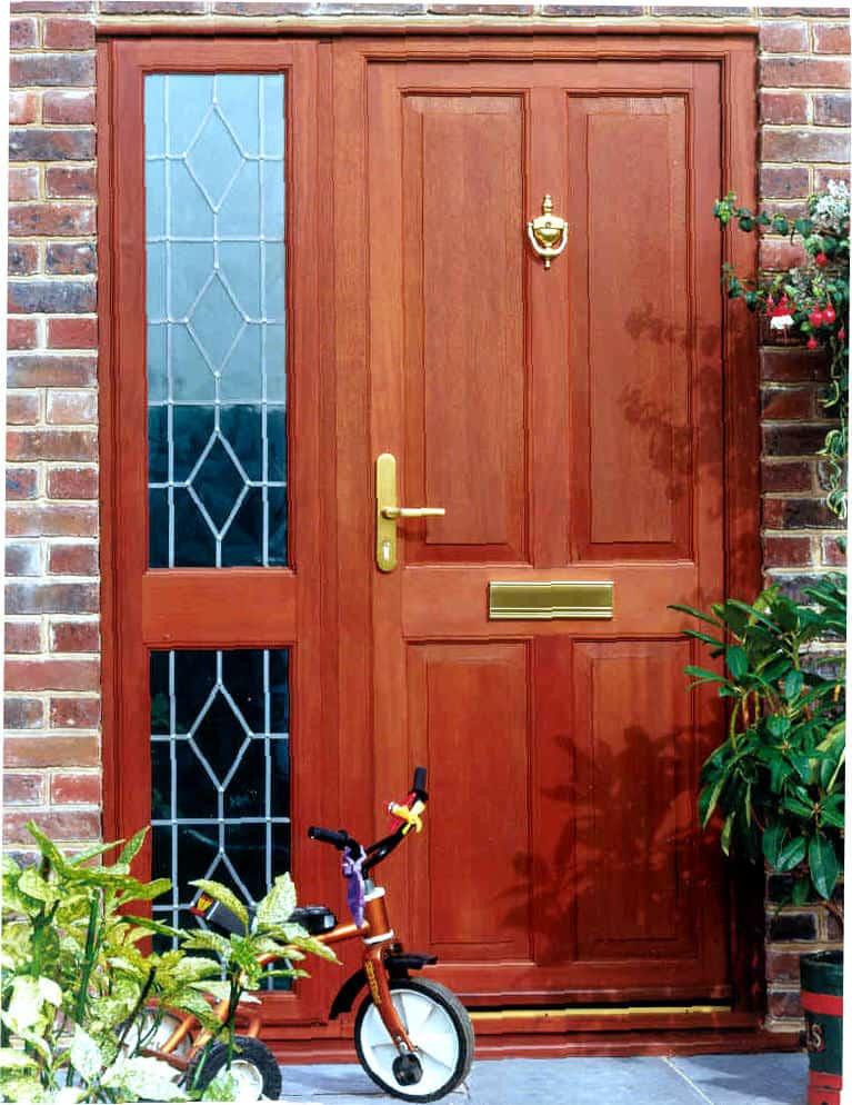 Front entrance doors exterior doors replacement surrey for Hardwood entrance doors