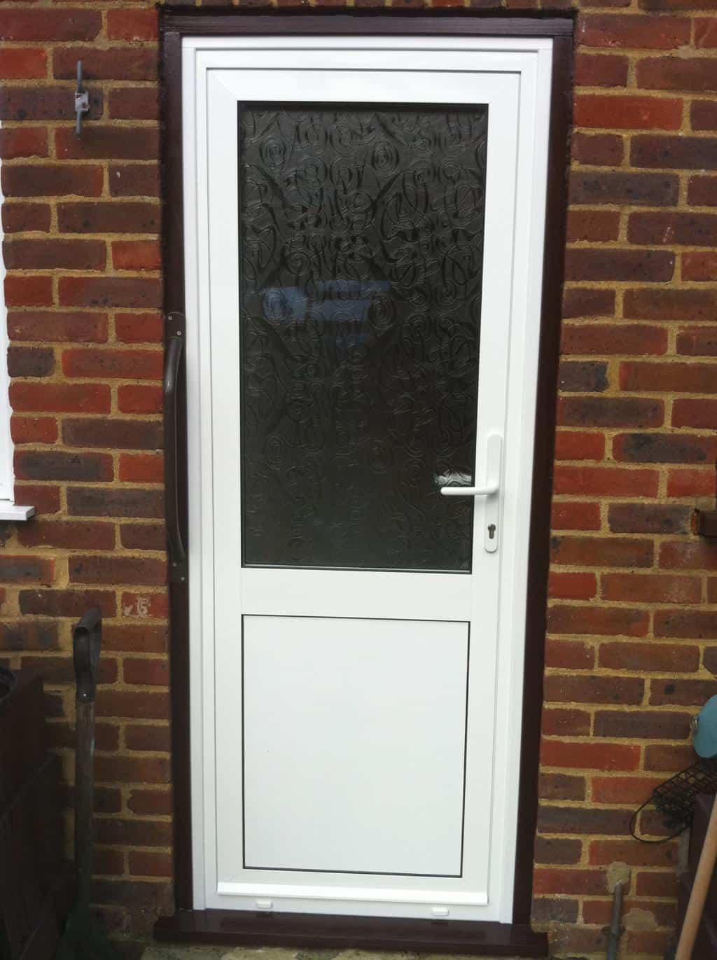 Upvc exterior door upvc white front door m a home for Front and back doors