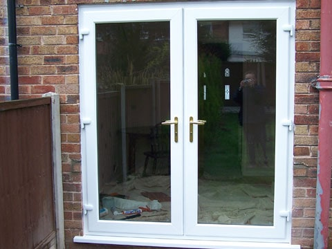Upvc doors front doors double doors sliding patio for Double entry patio doors