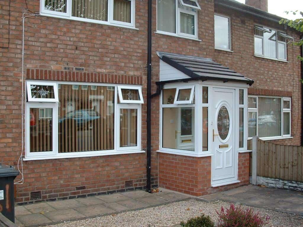 Double Glazed Porches : Double doors upvc porch