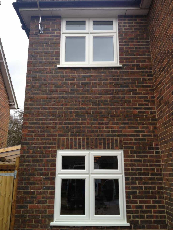 Wood Grain Upvc Windows : White woodgrain upvc window gallery dorking glass