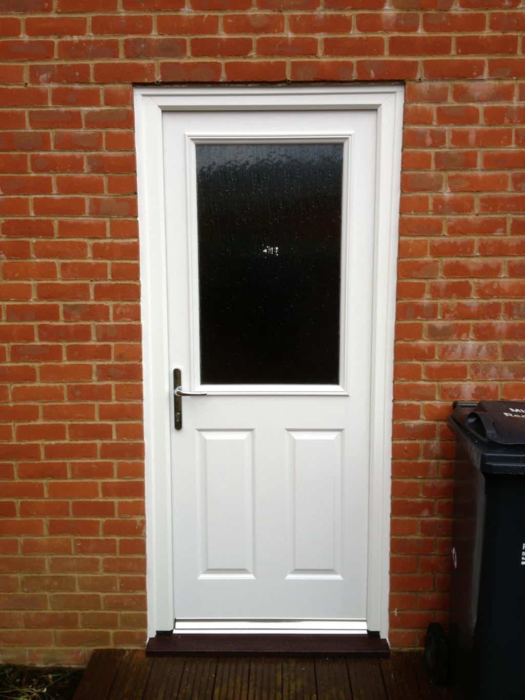 White composite back door dorking glass for White back door