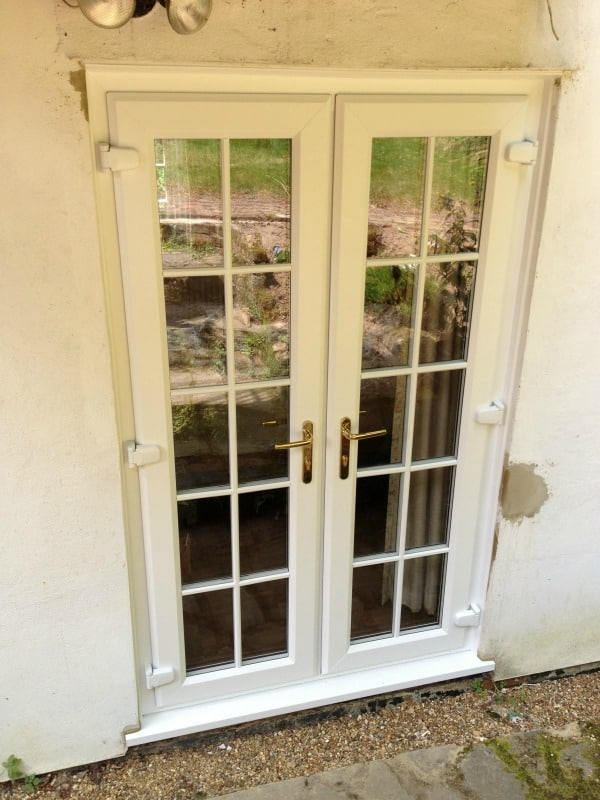 Double glazing dorking white upvc windows and french for White double french doors