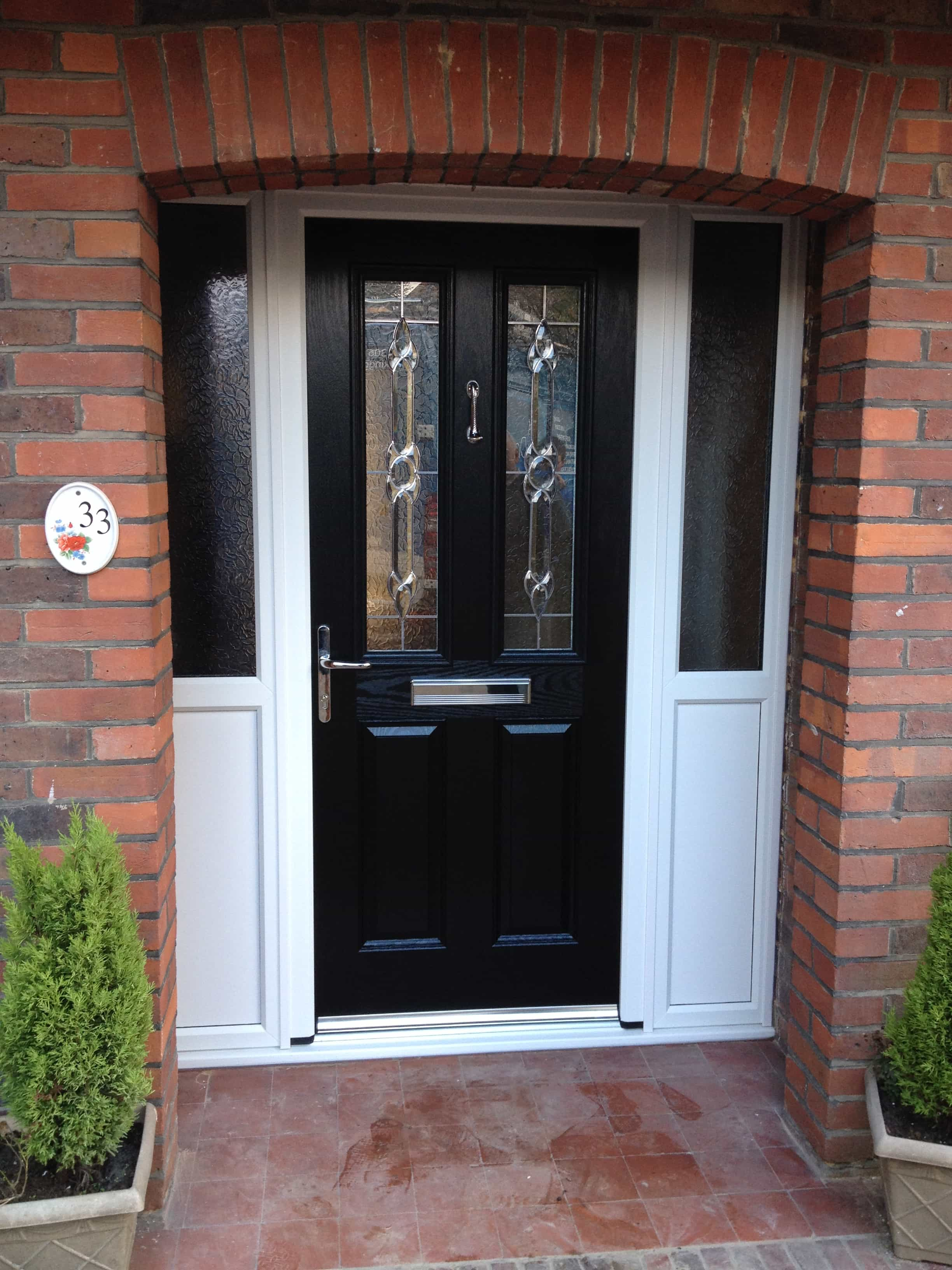 Black Door Glass : Front entrance doors exterior replacement surrey