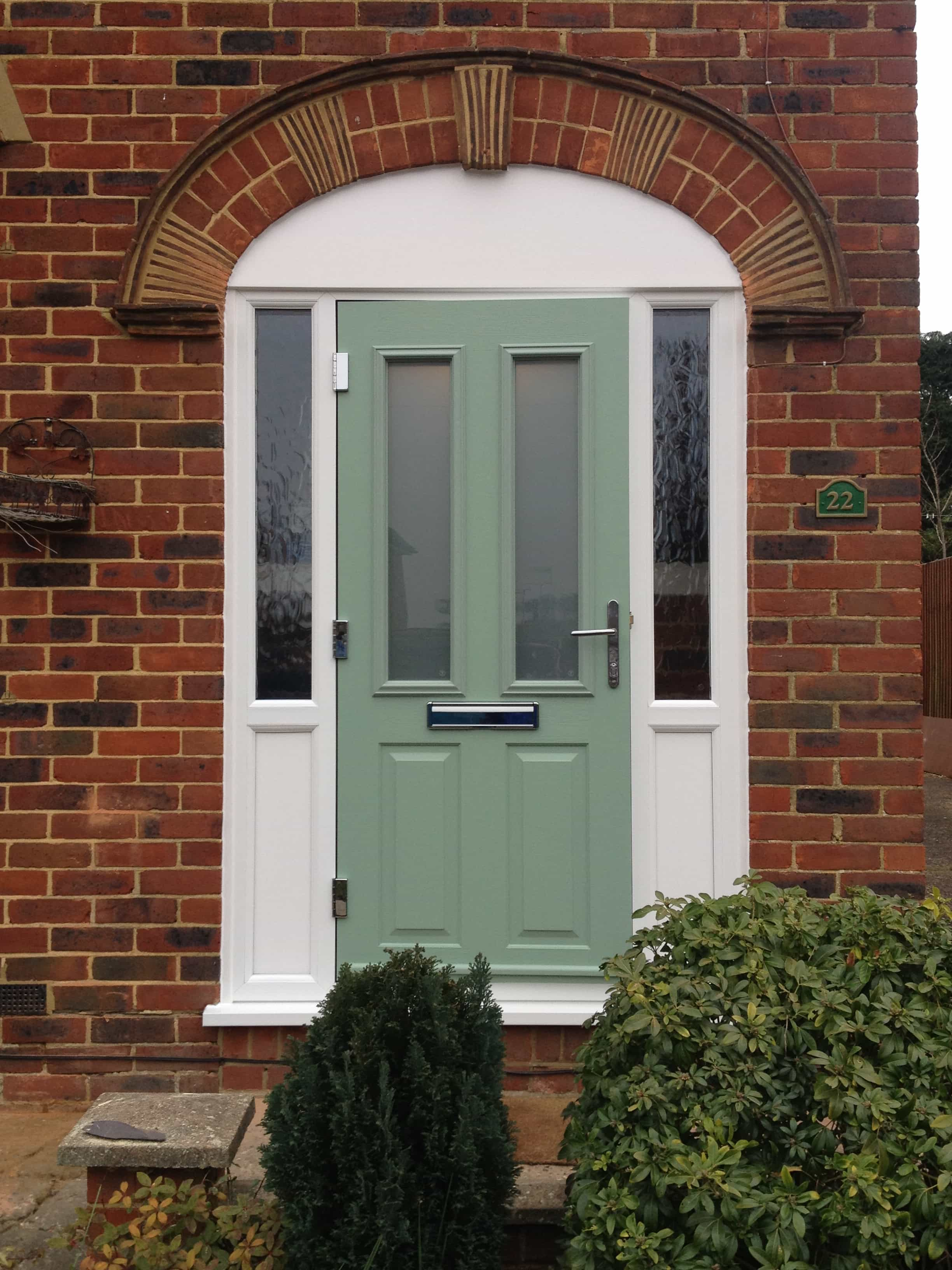 Front entrance doors exterior doors replacement surrey for Double glazed glass panels