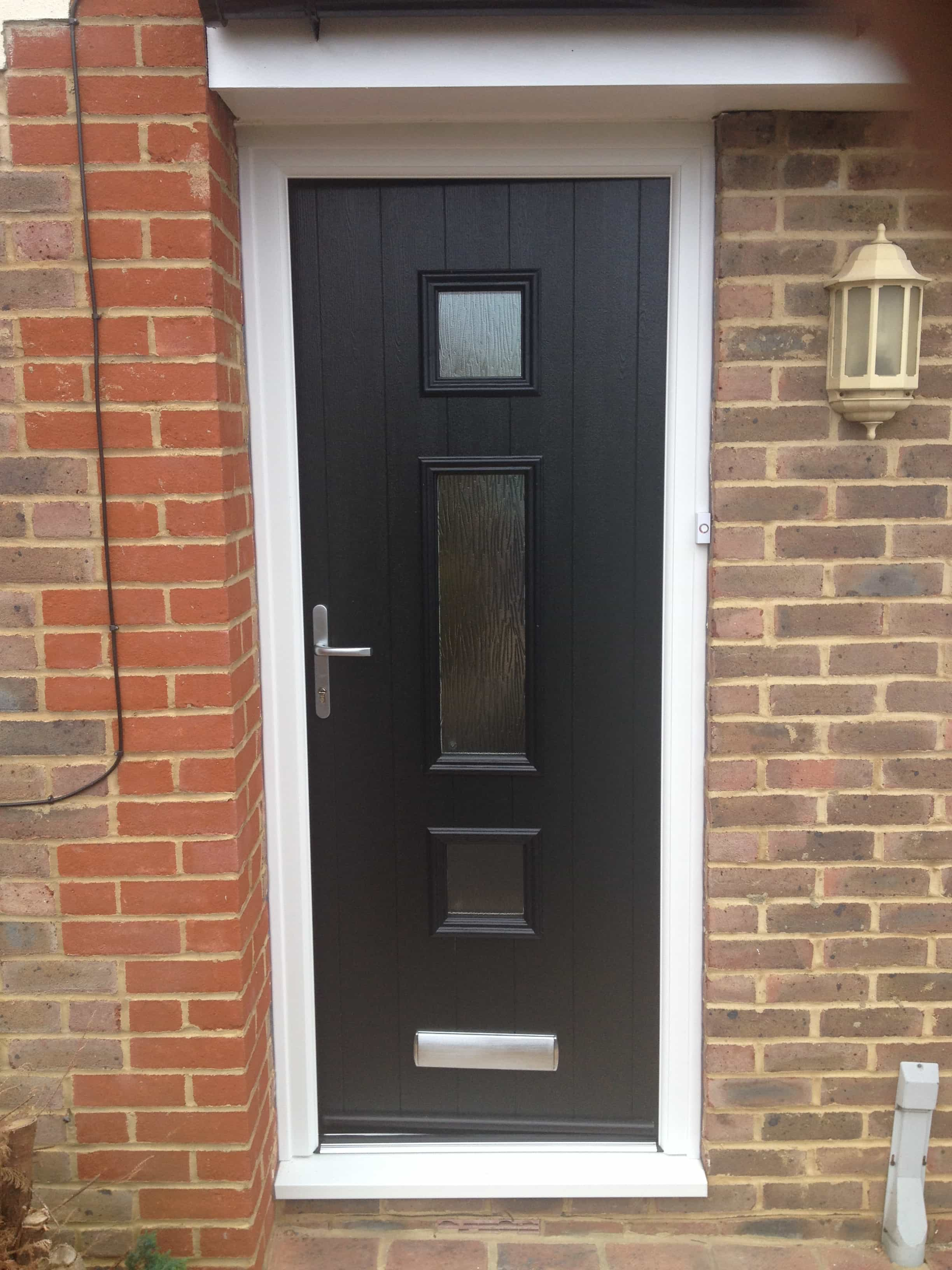 3264 #8F6D3C  Entrance Doors Exterior Doors Replacement Surrey Dorking Glass wallpaper Black Front Doors With Glass 43452448