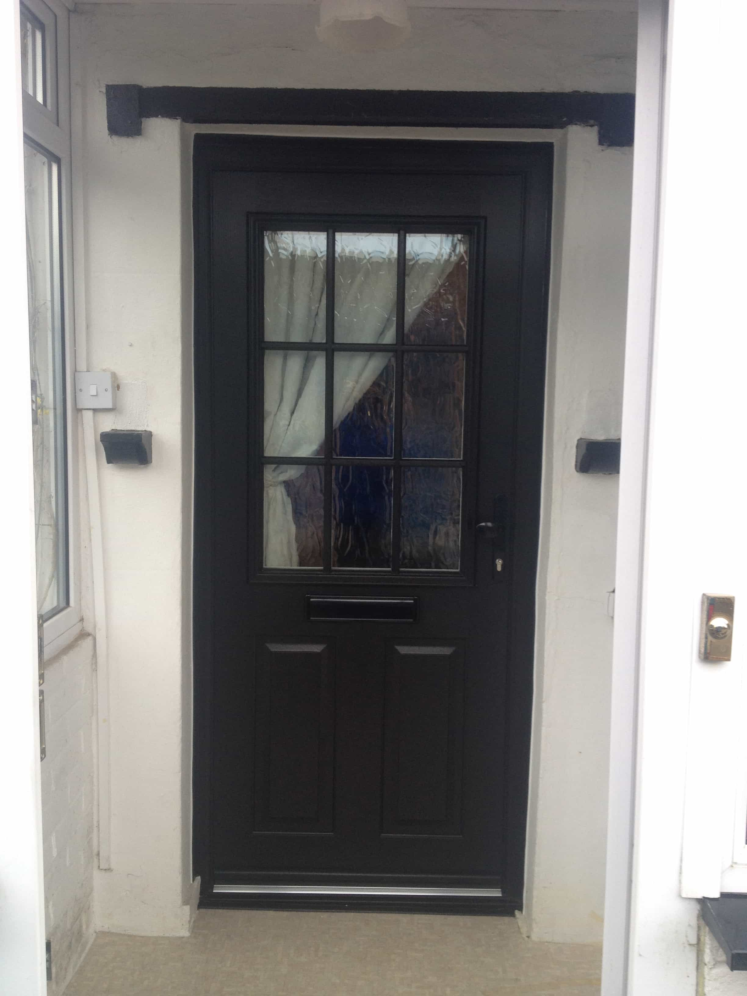 Front entrance doors exterior doors replacement surrey for Glass outer door
