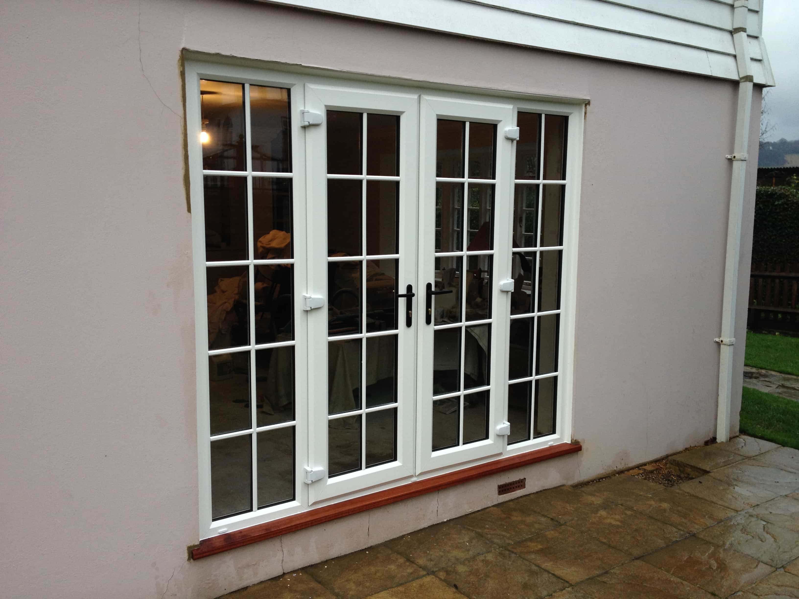Upvc doors front doors double doors sliding patio for Double glass french doors